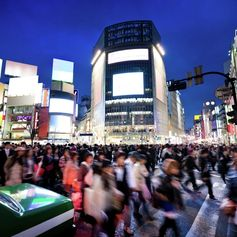 The crowd on the streets of Tokyo