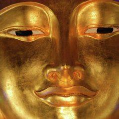 Golden Buddha face