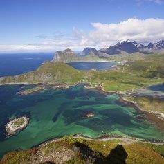Norwegian mountains - Bird's Eye view
