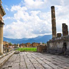 Landscape of historical city Pompeii