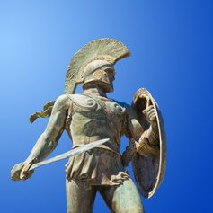 Statue of King Leonidas in Thermopylae