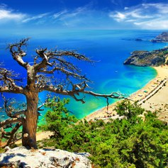 Greek Beach on Rhodes island
