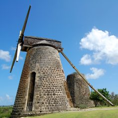 Travel Back in Time Visiting Antigua's Windmills