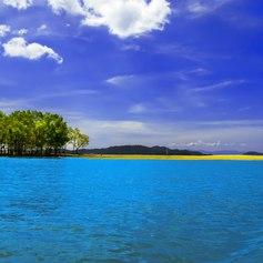 Clean blue rivers of Myanmar