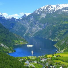 View on the Norway Fjord