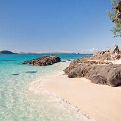 Tropical and beautiful rocky coast