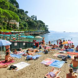 Paraggi beach is a popular stop for residents in surrounding villages