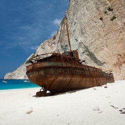 Shipwreck Beach (Navagio Beach) Photo 4