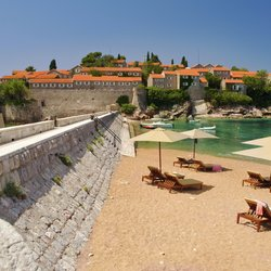 Private Beach on Sveti Stefan