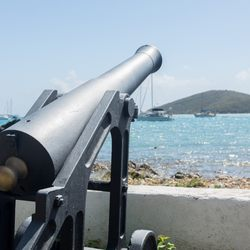 View across harbour of Charlotte Amalie Town