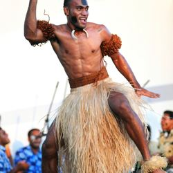 Fiji traditional dancer
