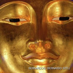 Golden Buddha face