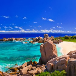 Magic coast at Seychelles
