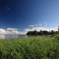 Beach at Kukundu in Solomon Islands