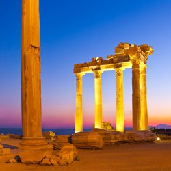Enjoy the Sunset at the Temple of Apollo