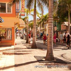 Busy Front Street in St. Maarten