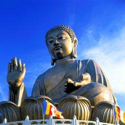 Statua of Buddha sitting cross-legged