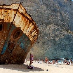 Shipwreck Beach (Navagio Beach) Photo 2