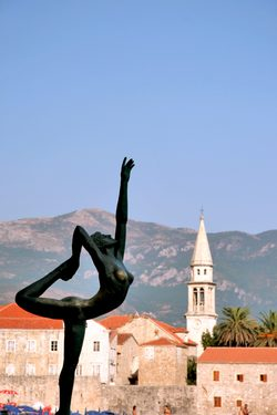 Statue on the Coastline of Budva