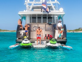Learn to Scuba Dive in the Caribbean aboard Crescent Luxury Yacht UNBRIDLED