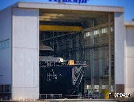 Exclusive: new 87m superyacht 'Feadship 700' prepares for launch