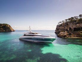 Superyacht 'Benita Blue' opens for Ibiza yacht charters