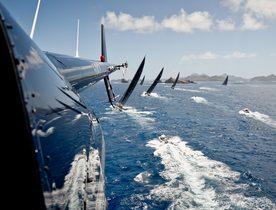 Charter Yachts Do Battle at St Barths Bucket 2017