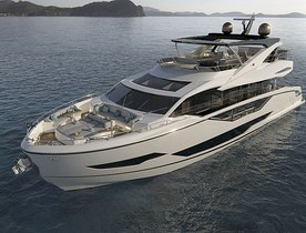 Brand new to the fleet: recently launched 27m Sunseeker Quid Nunc now available for yacht charters around the Balearics