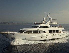 Superyacht SALU offers charter discount in the East Mediterranean