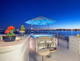 Benetti superyacht SIETE to charter in the Bahamas over the holidays