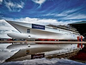 Oceanco's 109m Y720 superyacht enters outfitting phase