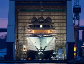 Lurssen's New Project Superyacht MISTRAL Launches on 16 April