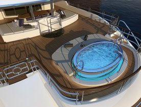 Superyacht LADY CHRISTINA Now Features a Stunning Deck Jacuzzi