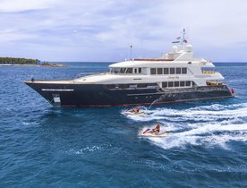 'Chevy Toy' Renamed Motor Yacht BACCHUS and Attending Antigua Charter Show