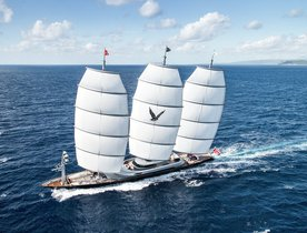 Superyacht 'Maltese Falcon' steps in to provide humanitarian aid in the Mediterranean