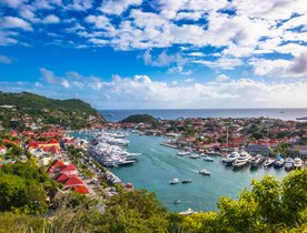 Superyachts on the scene in St. Barts to celebrate New Year's Eve in style