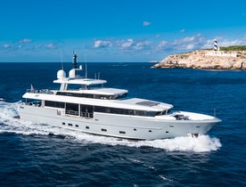Brand new to the Mediterranean charter fleet: 35m 'Cinquanta 50'