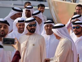 Sheikh Mohammed Visits Dubai International Boat Show 2017