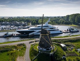 73m Feadship superyacht PODIUM ready for sea trials