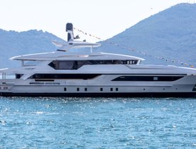 Baglietto launch hull number two of spacious 48m T-Line