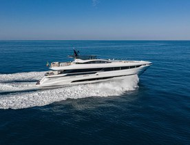 Brand new 33m Mangusta motor yacht DOPAMINE now available for charter