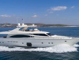Ferretti motor yacht ASTARTE opens for Greece yacht charters