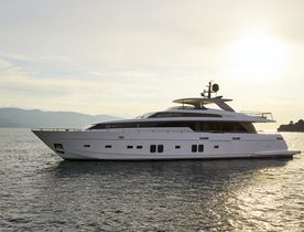 Brand new superyacht DINAIA opens for Greece yacht charters