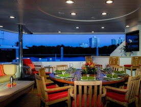 Superyacht 'Chasing Daylight' Cruising in the Bahamas