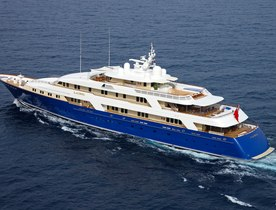 Superyacht LAUREL opens for charter in the Caribbean this winter