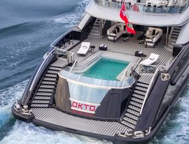 ISA Motor Yacht OKTO Opens for Monaco Grand Prix Charter