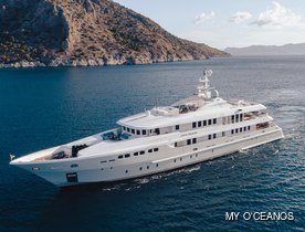 Luxury yacht O'CEANOS: refitted and fresh for charter in the Mediterranean