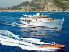 Last-minute availability for Mediterranean yacht charters with 50m classic yacht MALAHNE
