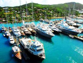 Superyachts Prepare for the Antigua Charter Yacht Show 2015