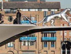 Charter Yacht KISMET Unveils Beautiful Silver Jaguar